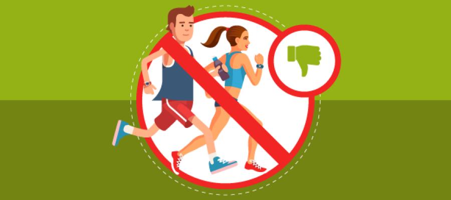 Erros comuns na hora de correr
