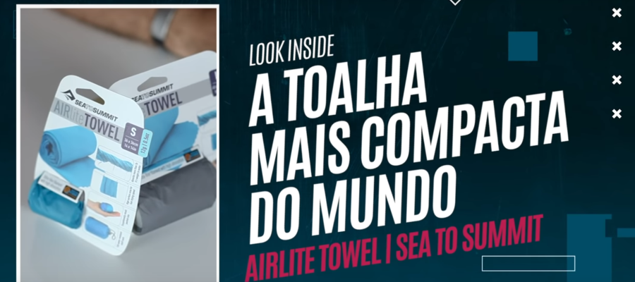 A Toalha Mais Compacta do Mundo! AirLite Towel Sea to Summit